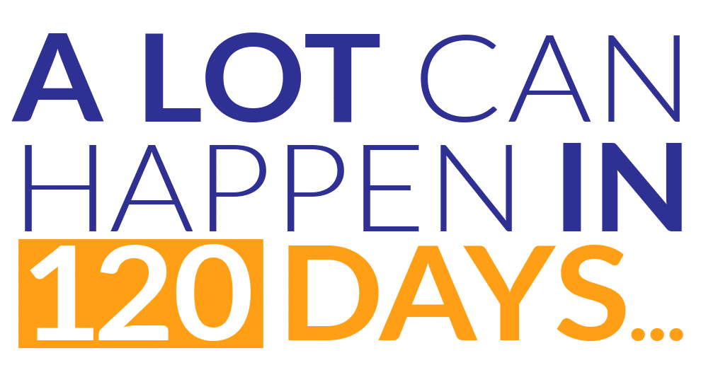 A lot can happen in 120 days image