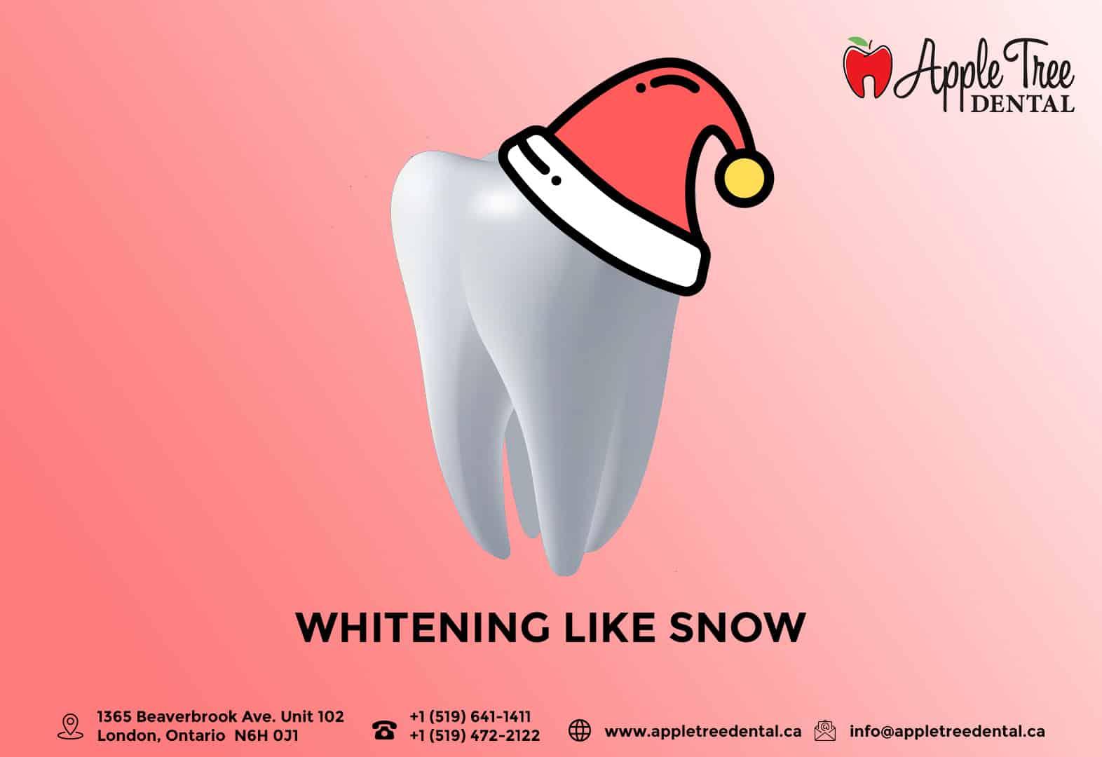 Tooth illustration wearing Santa hat
